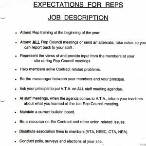 Site Rep Job Description
