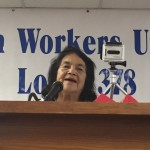 Labor Legend, Dolores Huerta, addressing the crowd!
